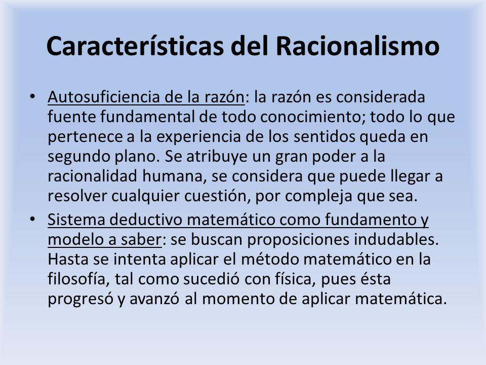 Características del Racionalismo