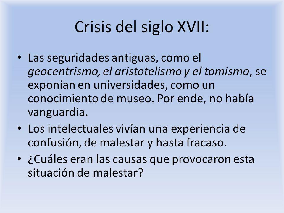 Crisis del siglo XVII: