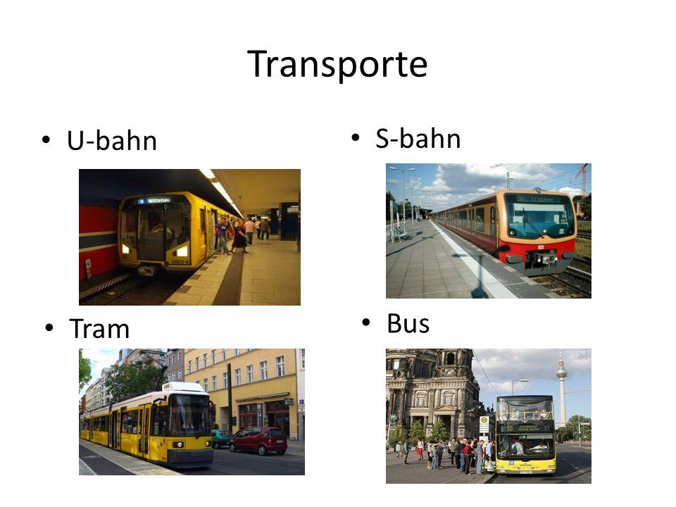 Transporte U-bahn S-bahn Bus Tram
