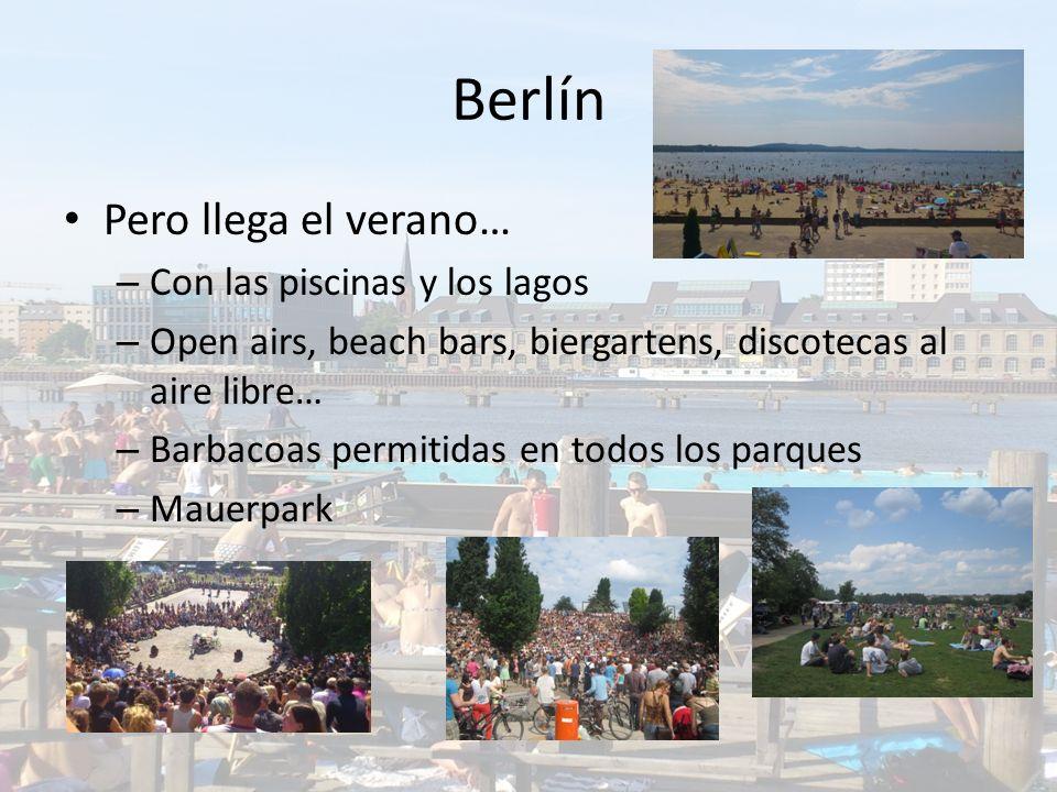 Berlín Pero llega el verano… Con las piscinas y los lagos