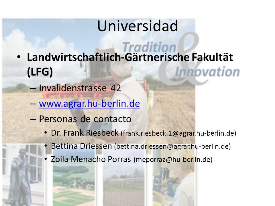 Universidad Landwirtschaftlich-Gärtnerische Fakultät (LFG)