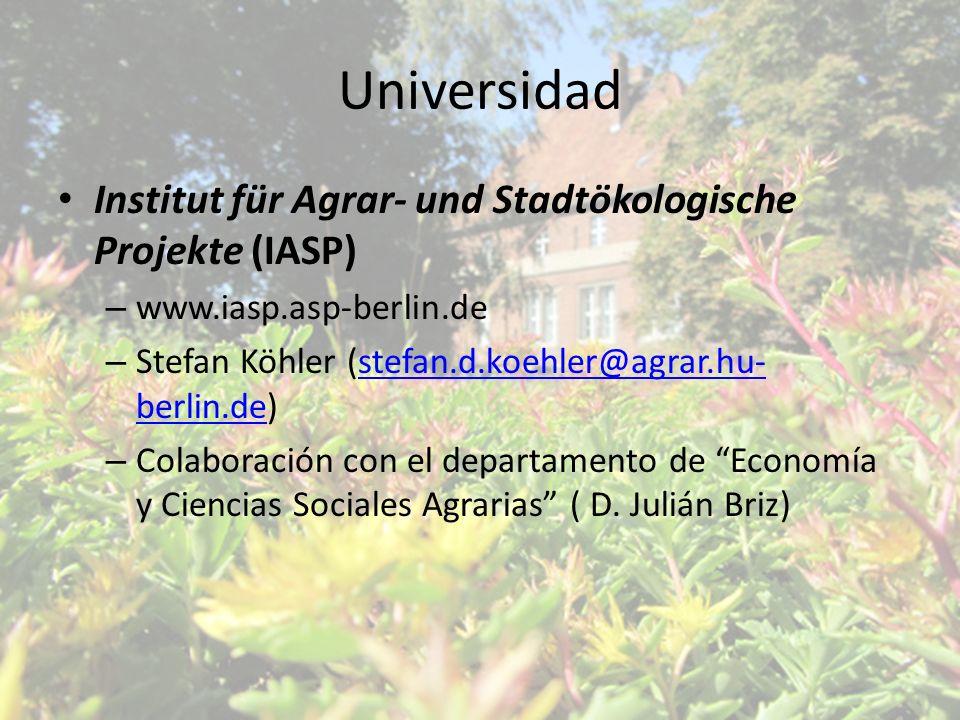 Universidad Institut für Agrar- und Stadtökologische Projekte (IASP)