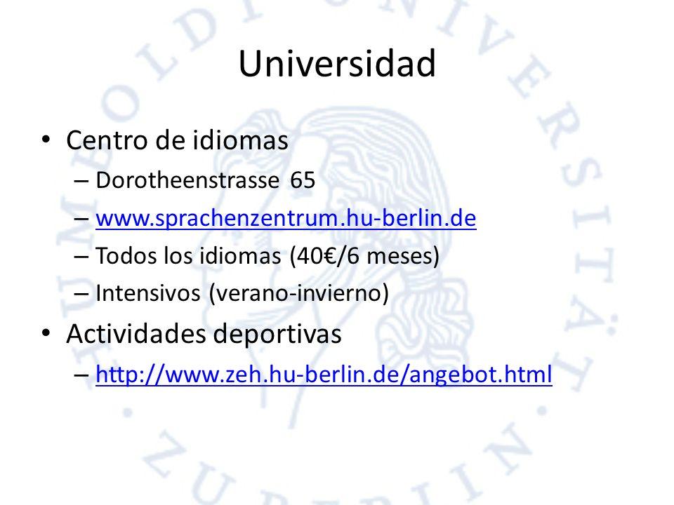 Universidad Centro de idiomas Actividades deportivas