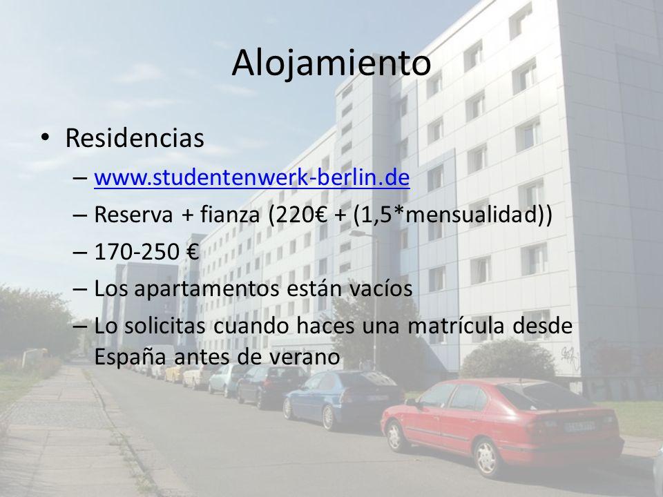 Alojamiento Residencias www.studentenwerk-berlin.de