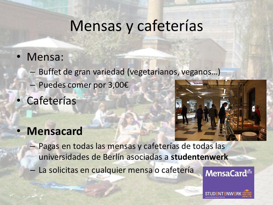 Mensas y cafeterías Mensa: Cafeterías Mensacard