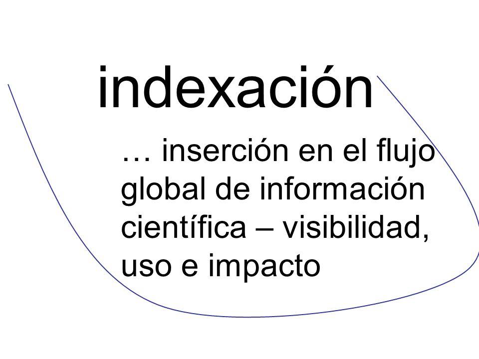 indexación … inserción en el flujo global de información científica – visibilidad, uso e impacto 34