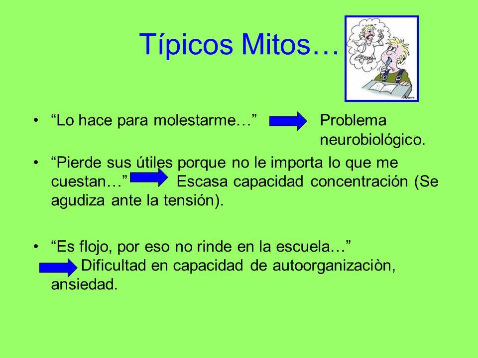 Típicos Mitos… Lo hace para molestarme… Problema neurobiológico.