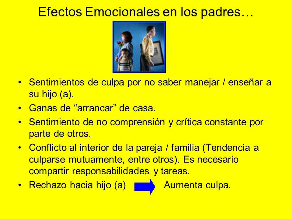 Efectos Emocionales en los padres…