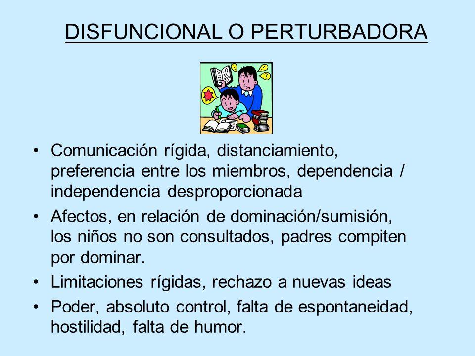 DISFUNCIONAL O PERTURBADORA