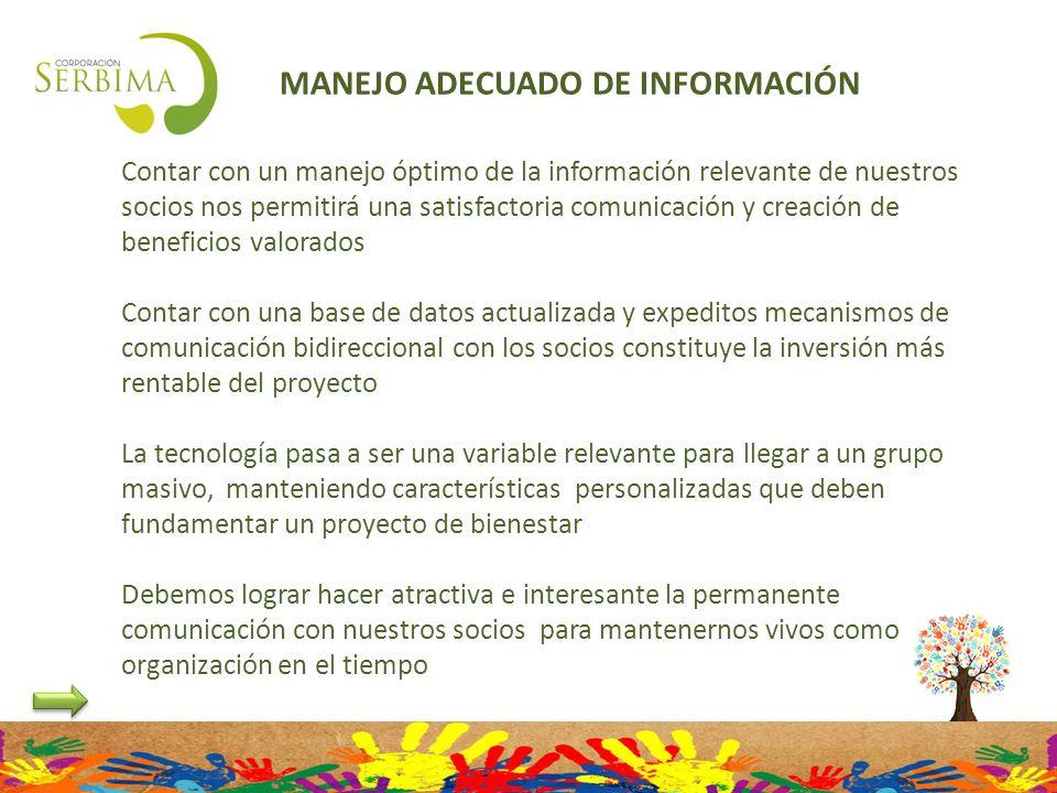 MANEJO ADECUADO DE INFORMACIÓN