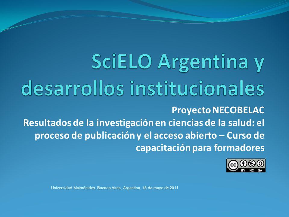 SciELO Argentina y desarrollos institucionales