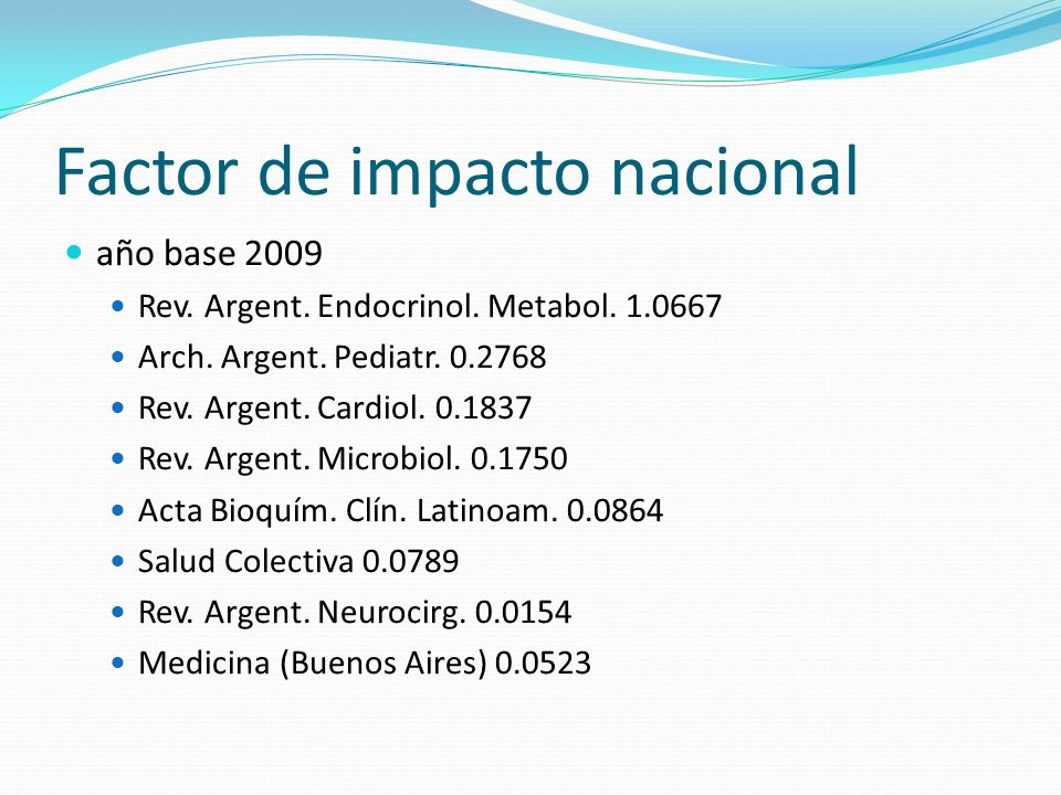 Factor de impacto nacional