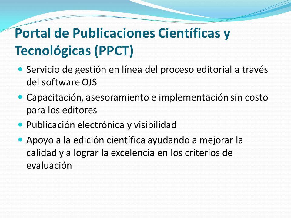Portal de Publicaciones Científicas y Tecnológicas (PPCT)