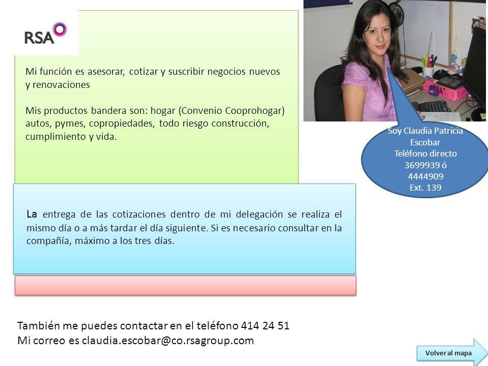 Soy Claudia Patricia Escobar