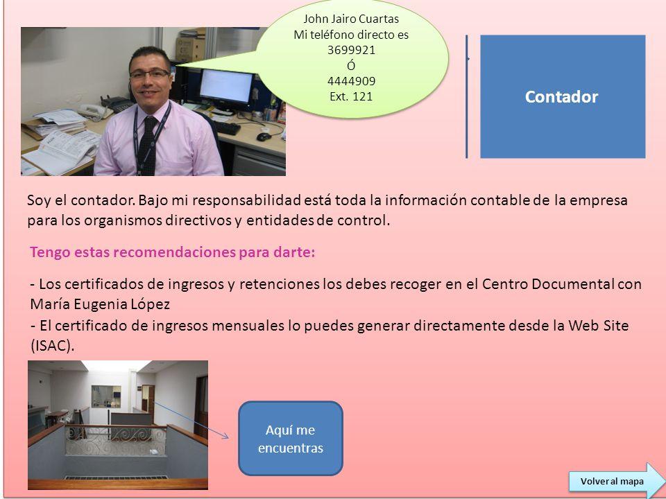 John Jairo Cuartas Mi teléfono directo es 3699921. Ó. 4444909. Ext. 121. Contador.