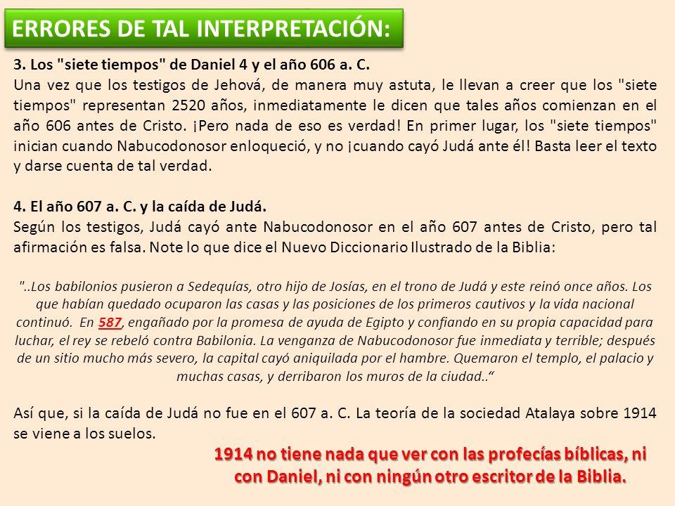 ERRORES DE TAL INTERPRETACIÓN: