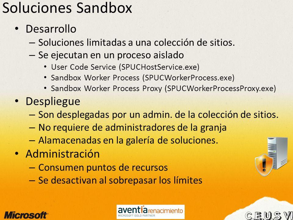 Soluciones Sandbox Desarrollo Despliegue Administración