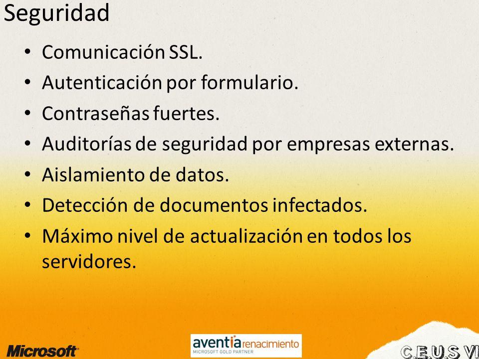 Seguridad Comunicación SSL. Autenticación por formulario.