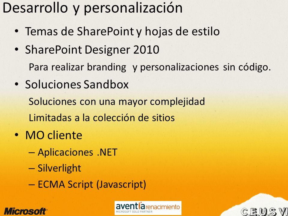 Desarrollo y personalización
