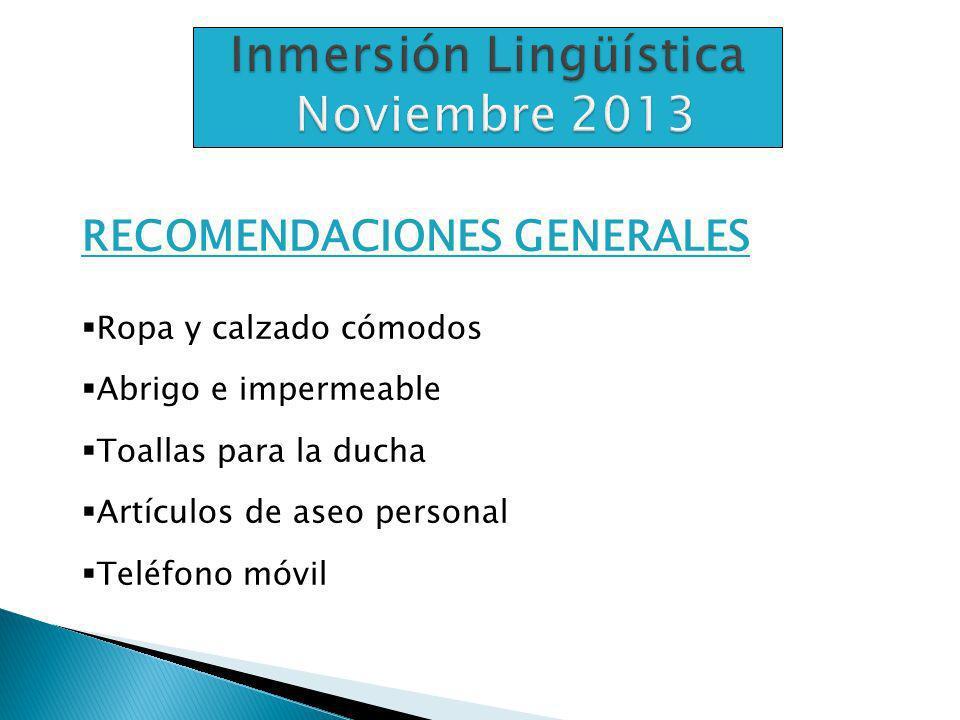 Inmersión Lingüística Noviembre 2013