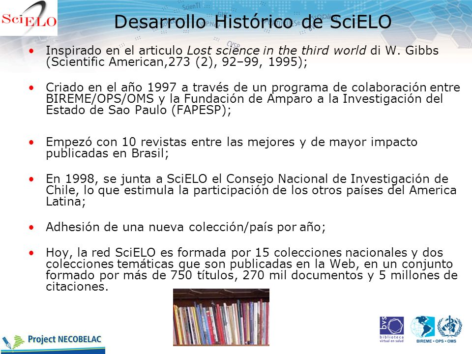 Desarrollo Histórico de SciELO