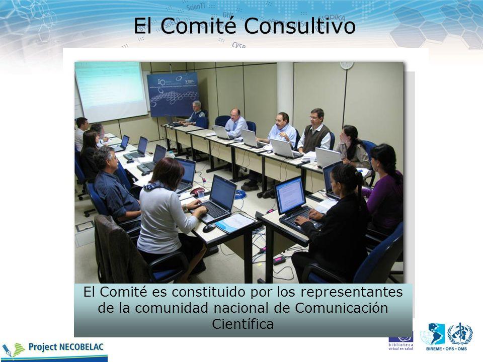 El Comité Consultivo El Comité es constituido por los representantes de la comunidad nacional de Comunicación Científica.