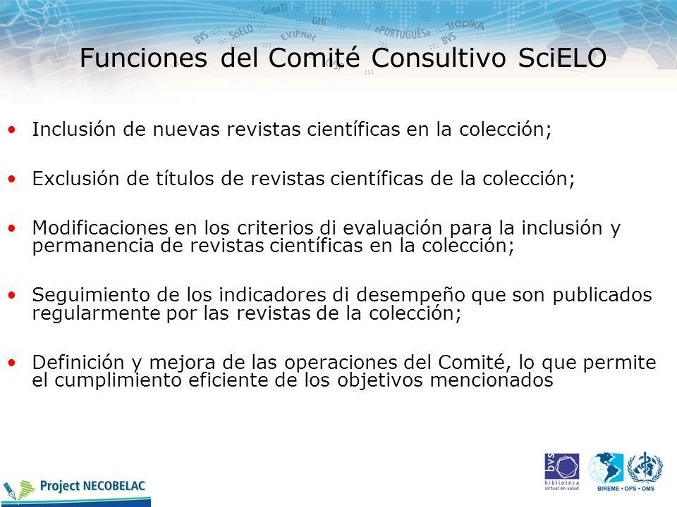 Funciones del Comité Consultivo SciELO