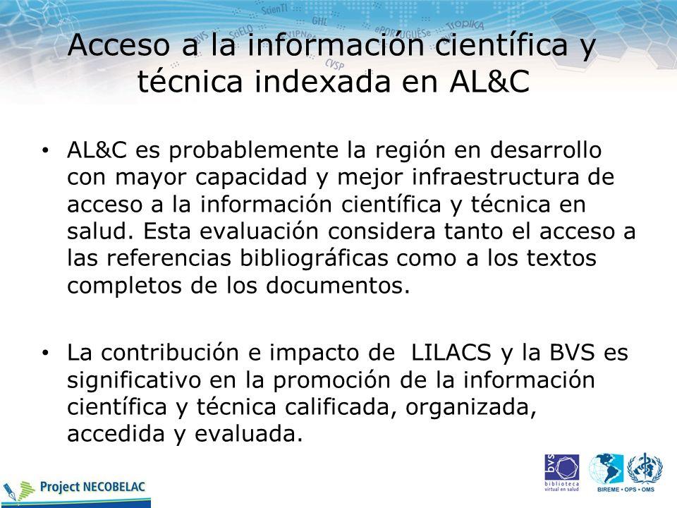 Acceso a la información científica y técnica indexada en AL&C