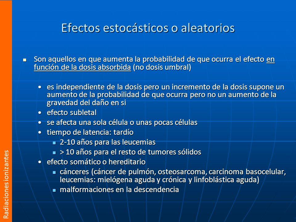 Efectos estocásticos o aleatorios