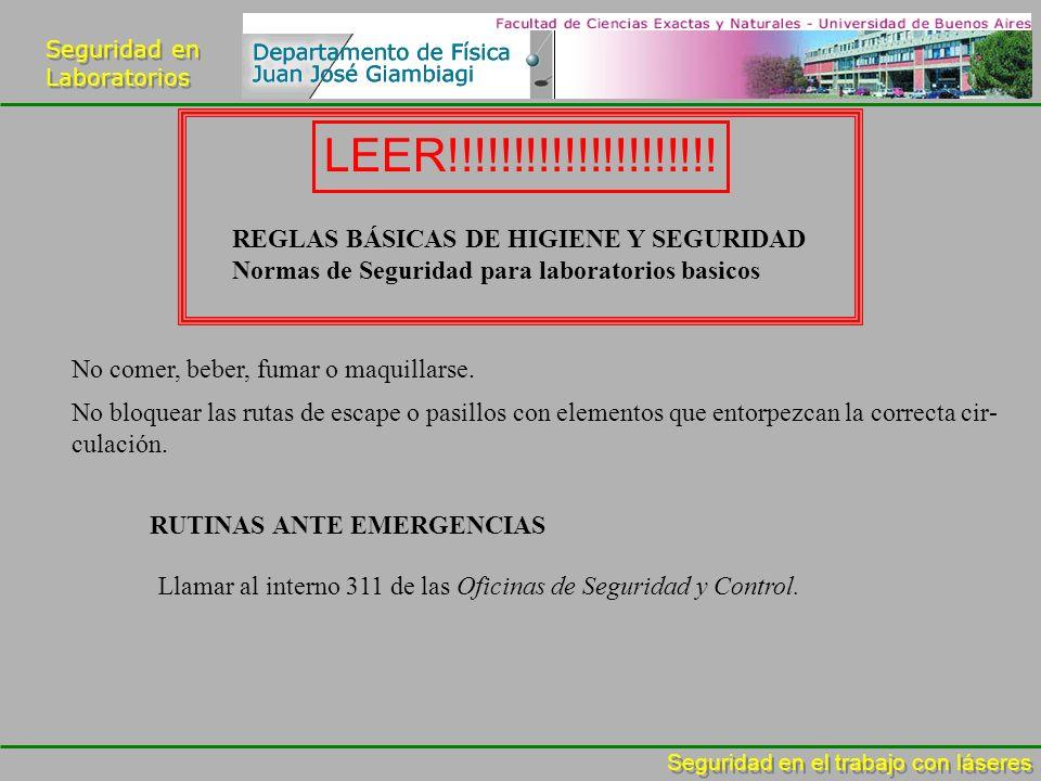 LEER!!!!!!!!!!!!!!!!!!!!! REGLAS BÁSICAS DE HIGIENE Y SEGURIDAD