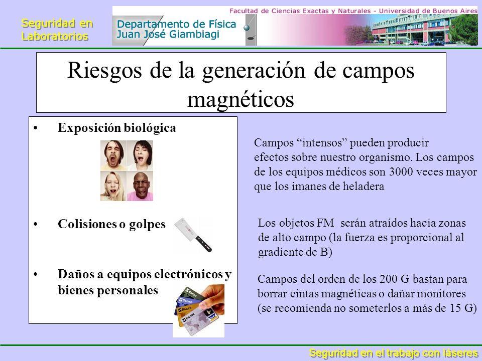 Riesgos de la generación de campos magnéticos