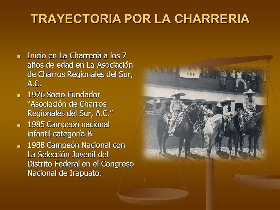 TRAYECTORIA POR LA CHARRERIA