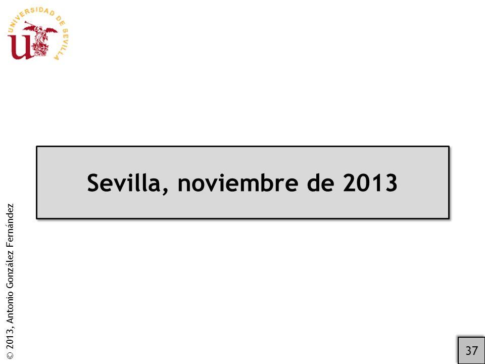 Sevilla, noviembre de 2013