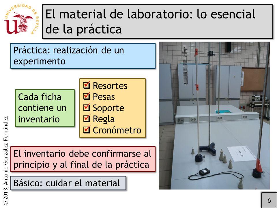 El material de laboratorio: lo esencial de la práctica