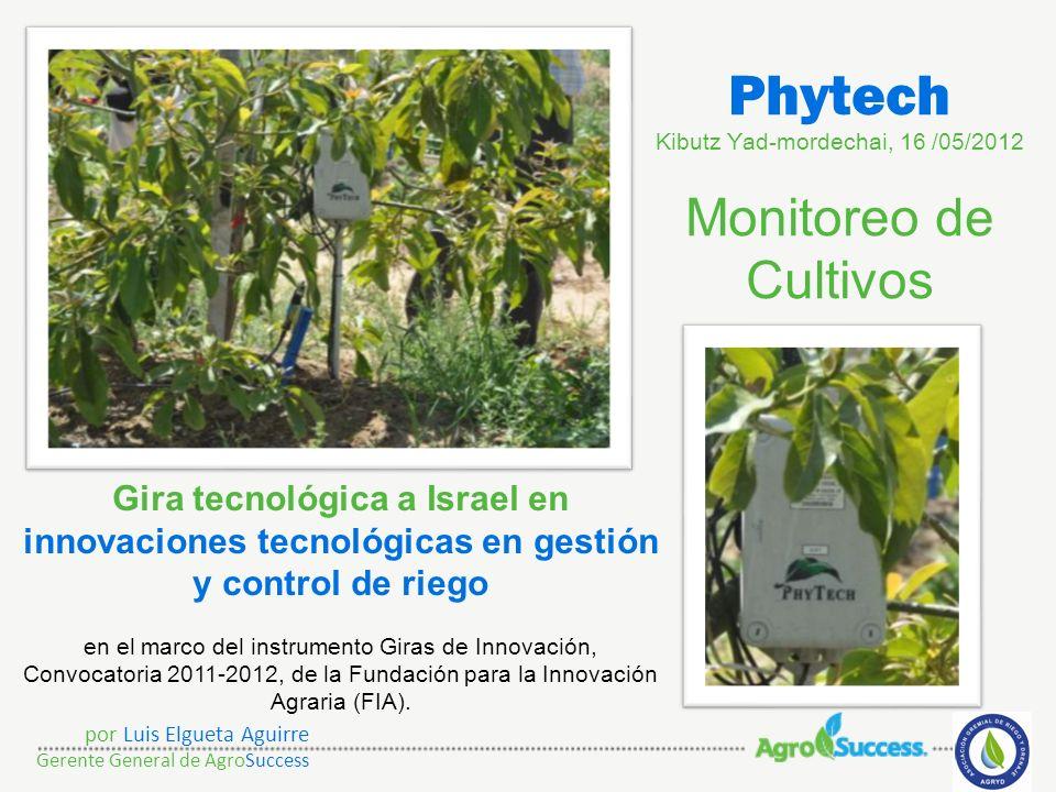Phytech Kibutz Yad-mordechai, 16 /05/2012 Monitoreo de Cultivos
