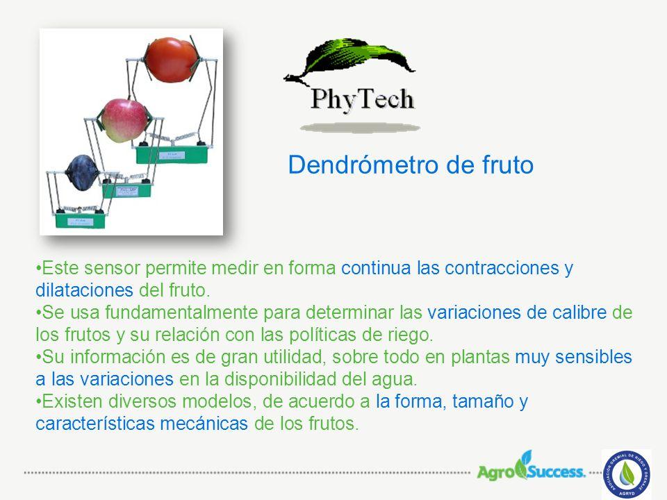 Dendrómetro de fruto Este sensor permite medir en forma continua las contracciones y dilataciones del fruto.