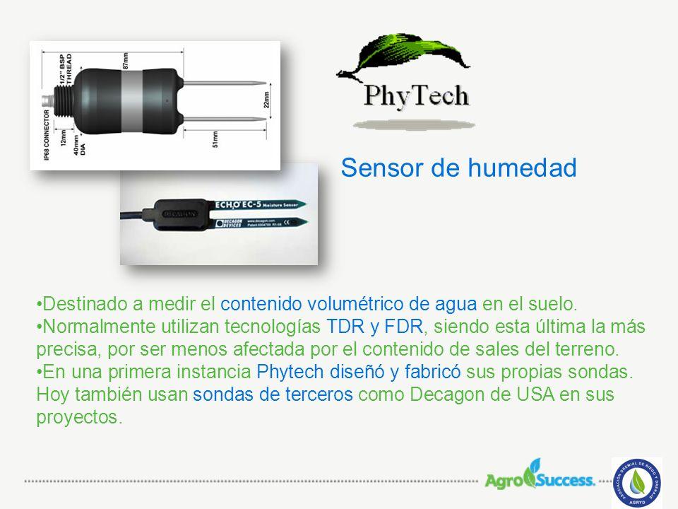 Sensor de humedad Destinado a medir el contenido volumétrico de agua en el suelo.