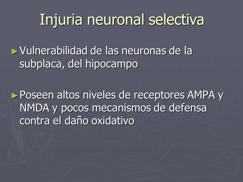 Injuria neuronal selectiva