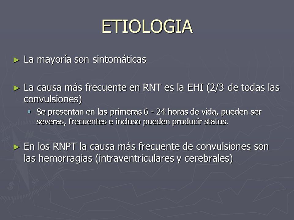 ETIOLOGIA La mayoría son sintomáticas