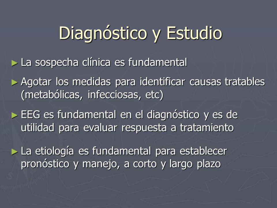Diagnóstico y Estudio La sospecha clínica es fundamental