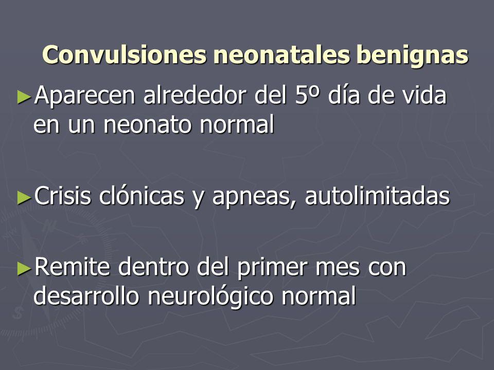 Convulsiones neonatales benignas