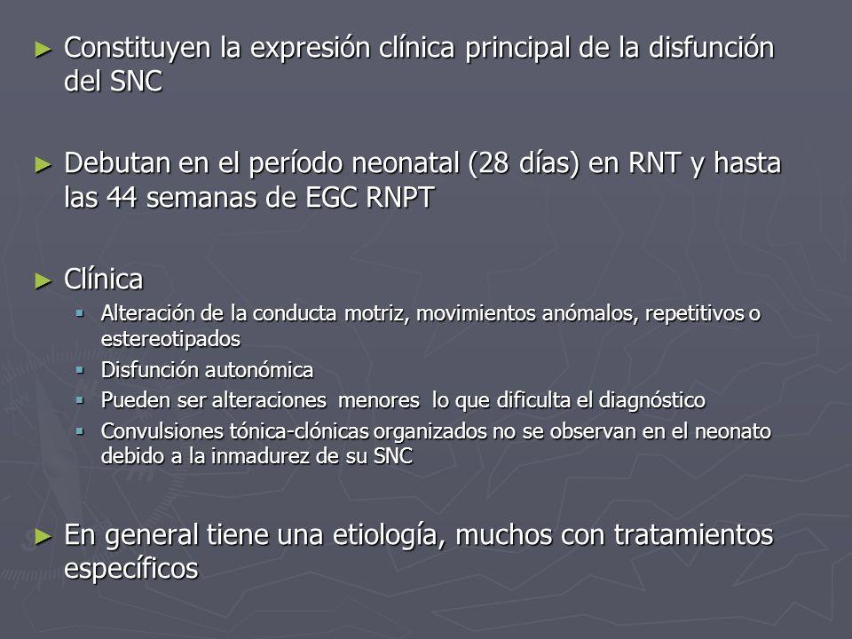 Constituyen la expresión clínica principal de la disfunción del SNC