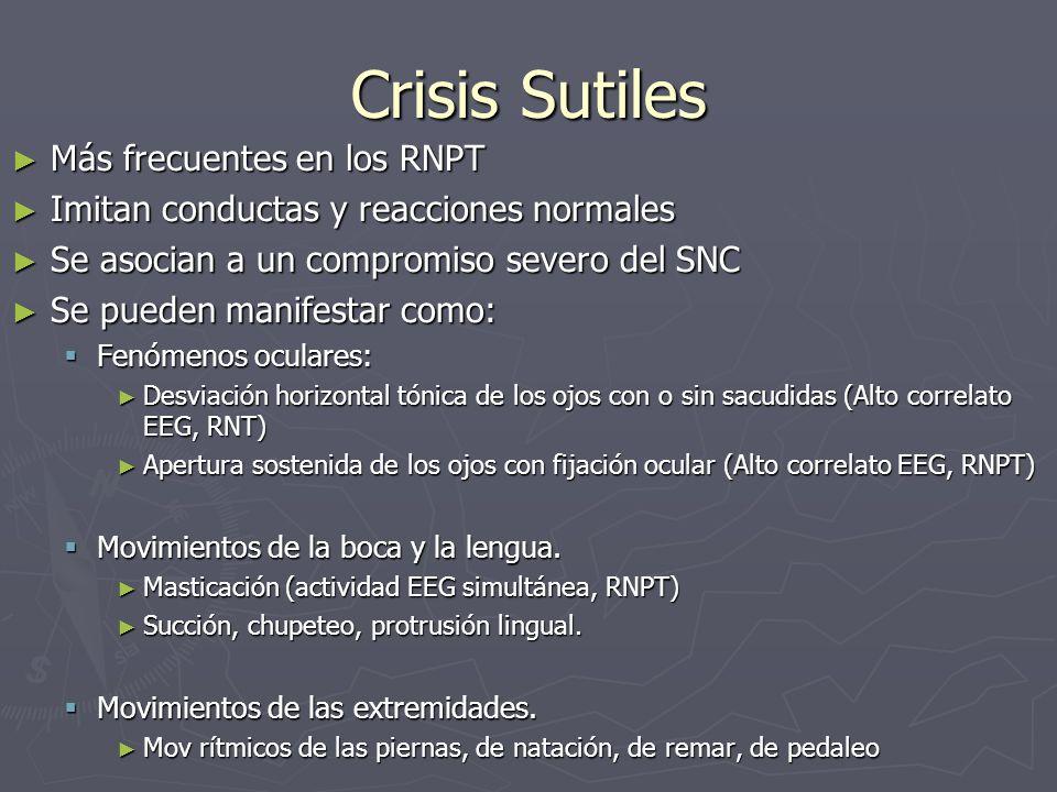 Crisis Sutiles Más frecuentes en los RNPT