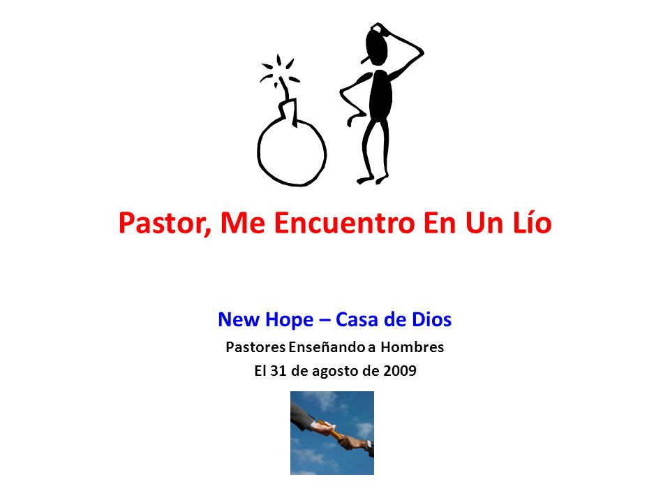 Pastor, Me Encuentro En Un Lío