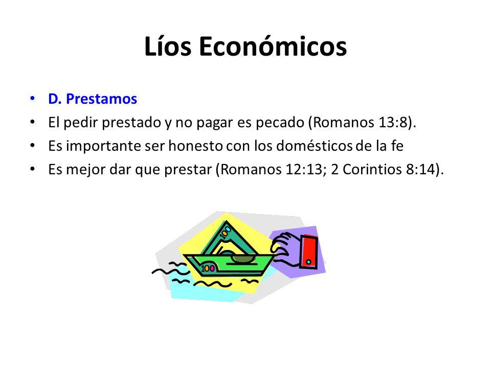 Líos Económicos D. Prestamos