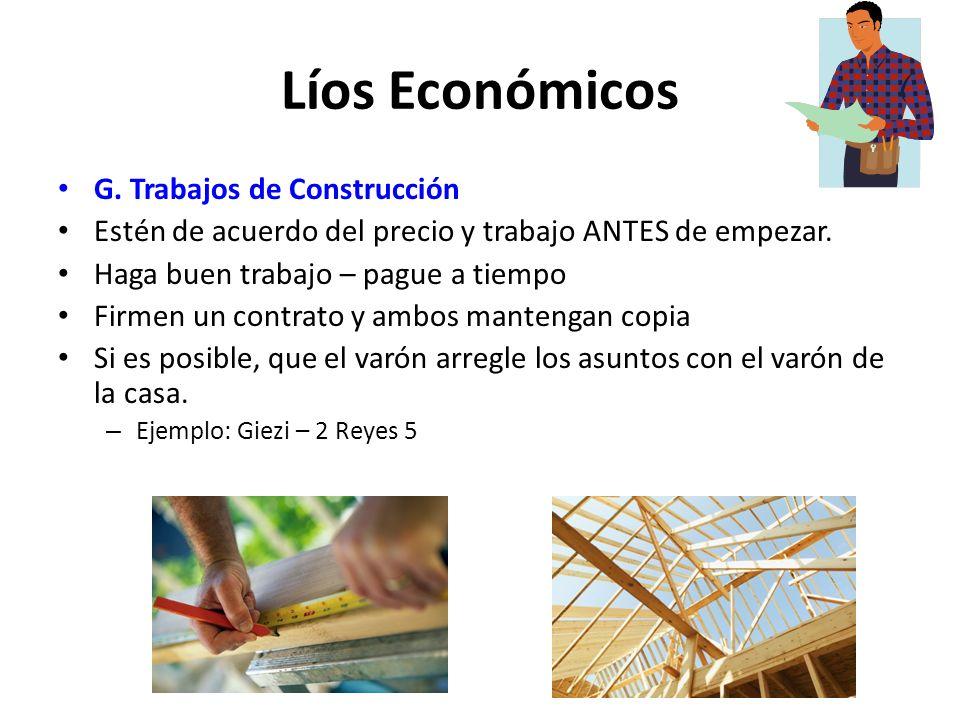 Líos Económicos G. Trabajos de Construcción
