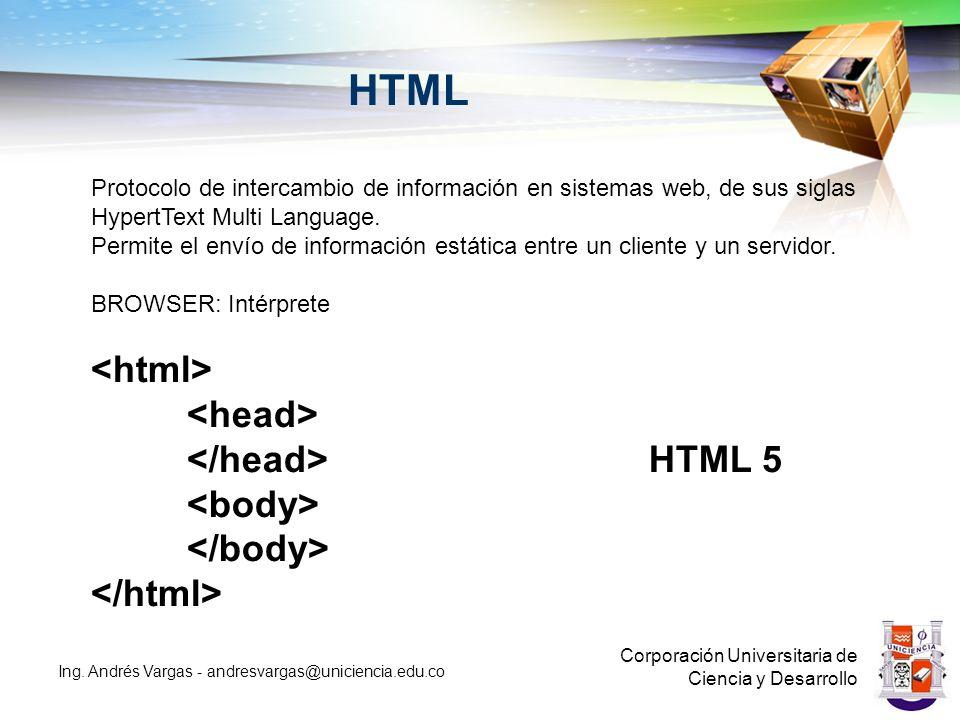 HTML <html> <head> </head> HTML 5 <body>