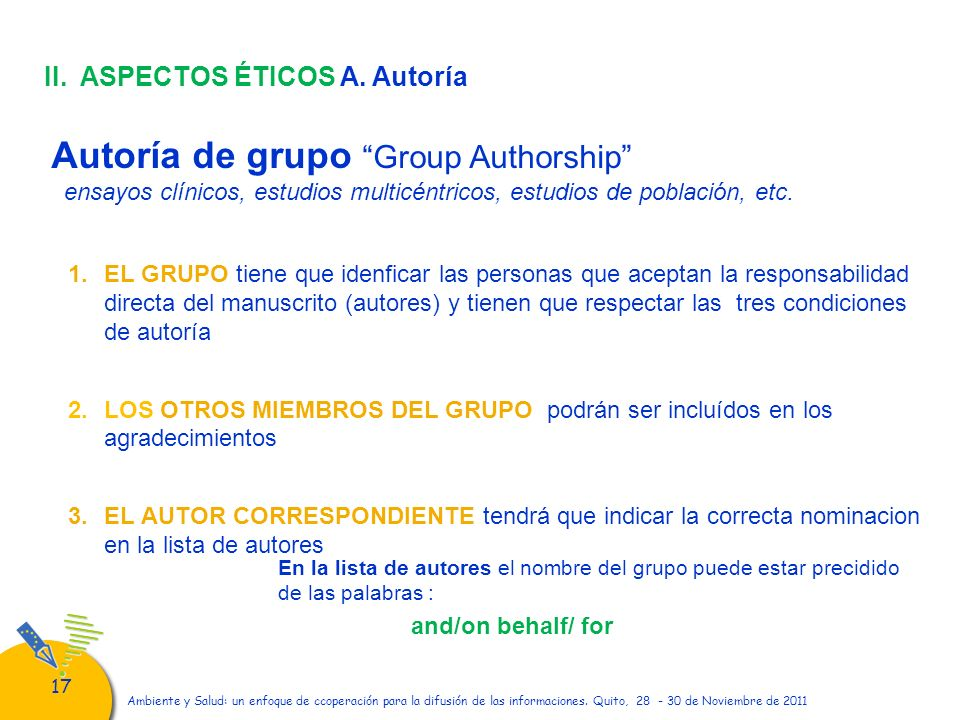 Autoría de grupo Group Authorship