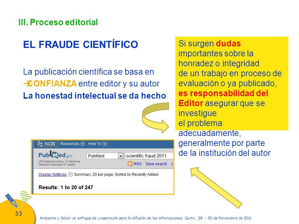 EL FRAUDE CIENTÍFICO III. Proceso editorial