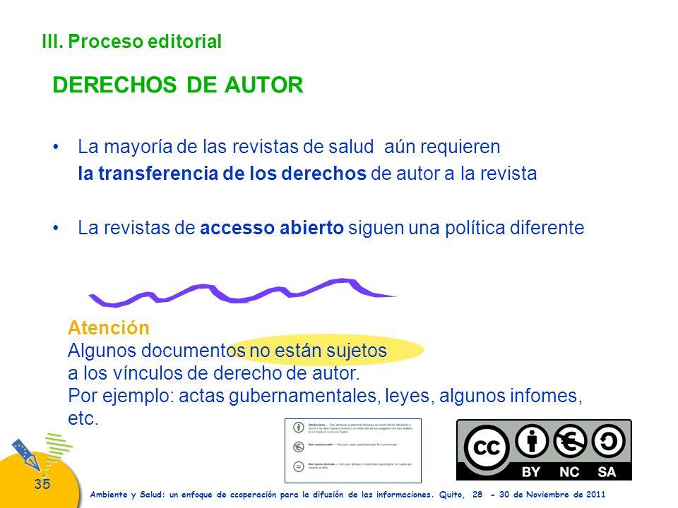 DERECHOS DE AUTOR III. Proceso editorial